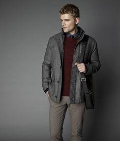 d6587723ff6b6 Herringbone wool-blend 4-pocket coat | Fall Herringbone Pattern, Wool Blend,