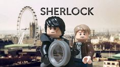 """LEGO Sherlock & Watson. I love how Sherlock has a collar and cheek bones, whereas no other legos do... """"You, being all mysterious with your cheekbones and turning your coat collar up so you look cool.""""-John Watson"""