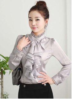 Акция Блузки Blusas Женская Одежда 2015 Весной Новый Женский С Длинными рукавами Дамы Профессиональные…
