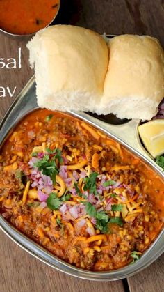 how to make maharashtrian misal pav recipe with step by step photo and video recipe. a popular spicy dish from the western india which is made up of a spicy dis Food Recipes In Hindi, Veg Recipes, Kitchen Recipes, Indian Food Recipes, Vegetarian Recipes, Breakfast Recipes In Marathi, Pakora Recipes, Snack Recipes, Kitchen Hacks
