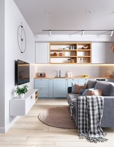 Exceptional small living room designs are offered on our website. Take a look and you wont be sorry you did. Chic Living Room, Small Living Rooms, Living Room Designs, Living Room Decor, Small Apartment Interior, Small Apartment Decorating, Apartment Design, Decorating Blogs, Studio Apartments