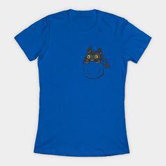 Pocket Toothless Womens T-Shirt