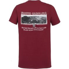 New World Graphics Men's University of South Carolina Friends Stadium T-shirt (Red Dark, Size XX Large) - NCAA Licensed Product, NCAA Men's Tops at...