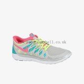 Fast Girls Nike Free 5.0 Metallic Platinum/Volt/Hyper Jade/Hyper Pink Authentic