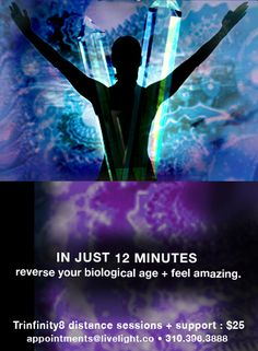 Got 12 minutes? Our Trinfinity8 sessions are proven to reduce our biological age with just a few sessions.   facebook.com/LiveLightCo
