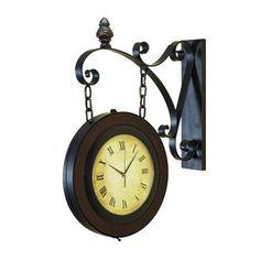 Aspire Home Accents 80433 Train Station Wall Clock - Decor Universe