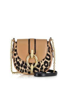 Diane Von Furstenberg Sutra Mini Leopard Jacquard Crossbody Bag