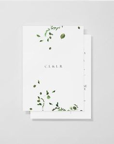 Check out these Minimalist Wedding Invitations for Cool Brides. | Nature-inspired with cool botanical and floral graphics, Venamour's stationery is perfectly simple a modern.: