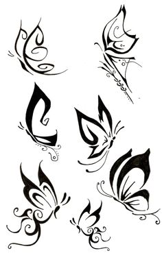 More Tribal Butterfly Tattoo Designs
