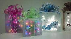 Christmas Glass Block Craft Ideas | more krafty block christmas ideas | Crafts...Glass Block!