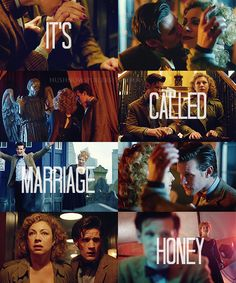 "River Song and the Doctor ""You just changed the future!""  ""It's called marriage, honey."""