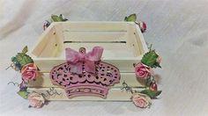 Princess Girls Keepsake Box, Decorative Box, Princess Decor, Wooden Decorative Box, Pink & Ivory Decor/Box by on Etsy Princess Girl, Baby Girl Gifts, Keepsake Boxes, Decorative Boxes, Girls, Pink, Ivory, Etsy, Beautiful