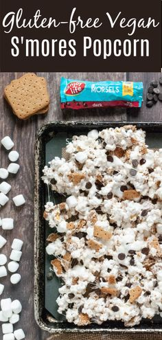 Gluten & Dairy Free S'mores Popcorn (Top 8 Free, too! Gluten Free Popcorn, Gluten Free Sweets, Gluten Free Baking, Vegan Gluten Free, Paleo, Graham Cookies, Allergy Free Recipes, Baking Recipes, Nut Free