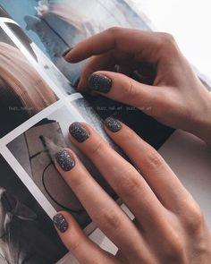 Short Nail Manicure, Glitter Manicure, Uv Gel Nails, Gel Nail Art, Trendy Nail Art, Stylish Nails, Hot Nails, Hair And Nails, Soft Pink Nails