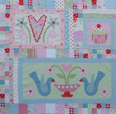 cupcake applique quilts | Found on rosaliequinlandesigns.typepad.com