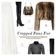 """""""Cropped Faux Fur Coats - Contest Entry"""" by amberelb ❤ liked on Polyvore featuring RED Valentino, Chloé, Rosantica, ASOS, Zara, Dolce&Gabbana, LE VIAN, women's clothing, women and female"""