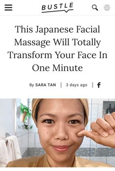 Famous Japanese facial massage technique helps lift tense muscles skin face skin no makeup skin requires commitment skin secrets skin tips Technique Massage, Massage Techniques, Beauty Care, Beauty Skin, Health And Beauty, Beauty Advice, Diy Beauty, Face Beauty, Healthy Beauty