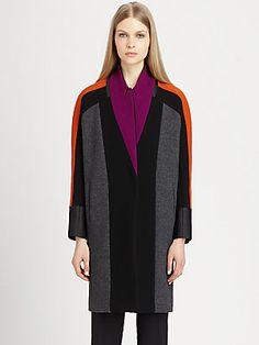 Etro Colorblock Wool-Blend Coat