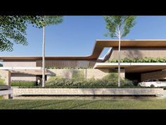 Tropical Architecture, Minimalist Architecture, Residential Architecture, Amazing Architecture, Modern Architecture, Minimal House Design, Mid Century Exterior, Bali House, Entrance Design