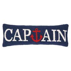 Found it at Wayfair - Nautical Hook Captain Anchor Wool Lumbar Pillow
