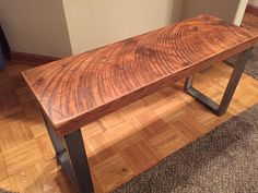 Industrial bench. Reclaimed wood bench. Dining room bench.