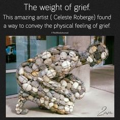 The Weight Of Grief - Brenda Dauncey - Wow Art, Looks Cool, Oeuvre D'art, Art Inspo, Amazing Art, Fun Facts, Art Drawings, Art Photography, Graffiti