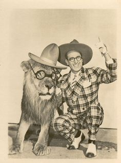 """""""The Sin of Harold Diddlebock,"""" 1947, Harold Lloyd and Lion co-star"""