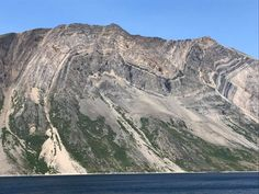 Folding in the Torngat Mountains, a mountain range on the Labrador Peninsula, Canada