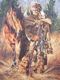 art painting mountain men | Details about Paul Calle They Call Me Matthew Mountain Man Art Print