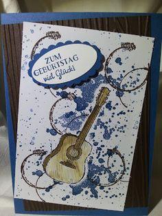 Für einen Gitarristen; Country livin; stampin up; Männerkarte