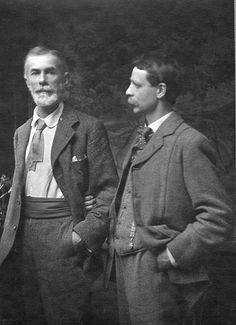 Famous gay couples - Edward Carpenter and George Merrill The two met in and eventually moved in together in Their relationship endured until George's death. Vintage Couples, Vintage Love, Vintage Images, Vintage Men, Vintage Stuff, Lgbt History, Aubrey Beardsley, Couples In Love, Lgbt Couples