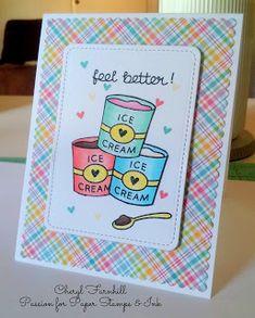 Lawn Fawn Ice Cream Card #lawnfawn #treatyourself