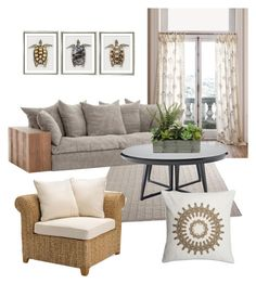 """""""Summer Beige"""" by jonah-diaz on Polyvore featuring interior, interiors, interior design, home, home decor, interior decorating, Anthropologie, William Stafford, Serena & Lily and Pottery Barn"""