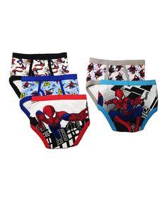 This White Spider-Man Underwear Set - Boys is perfect! #zulilyfinds
