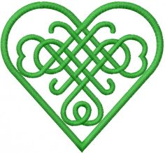 Celtic  Heart embroidery design valentines day