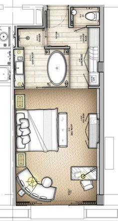 Master room with private bathroom and dressing:
