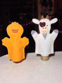A couple of in-the-hoop, child-sized, hand puppets made with felt from National Nonwovens. Puppet Making, Hand Puppets, Gifts For Family, Hoop, Pikachu, Felt, Couple, Children, Fictional Characters