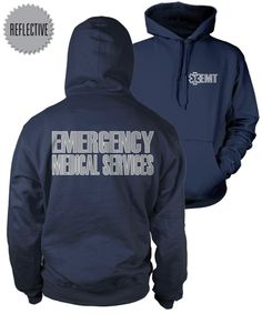 EMT Reflective Hooded Sweatshirt bought one and I love it! Works great on scene and looks professional would recomend to any EMT!
