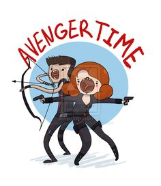 Avenger Time with Black Widow and Hawkeye