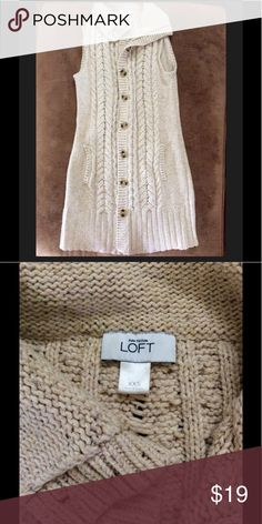 Loft Heather Cream Beige Oatmeal Long Sweater In excellent preowned condition! Oversized and will fit a size small despite the xxs label. LOFT Sweaters