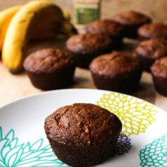 These Banana Date Muffins are Paleo friendly, no sugar added and intensely moist and satisfying. A great high protein pick me up.