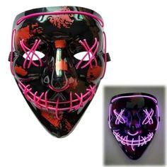 Rave Halloween LED mask, Purge mask, Rave Halloween costume part