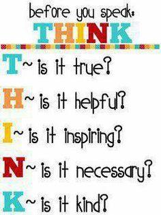 Before you speak...