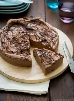 Cheesecake au chocolat noir très crémeux (sans cuisson) | Jujube en cuisine