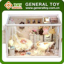 Minyatür bebek evi mobilya, ahşap tatlı ev, diy minyatür ev