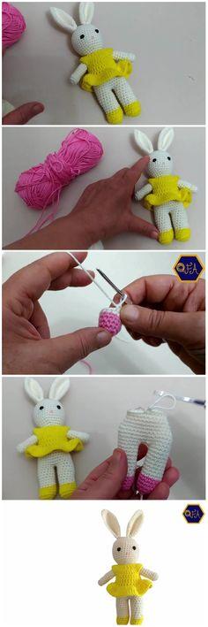 How To Crochet Amigurumi Rabbit - Free Crochet Patterns ✔