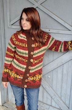 Autumn Fire cardigan: Knitty Deep Fall 2012