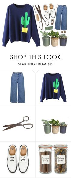 """""""i'm a cactus now"""" by annnnnnnnnn ❤ liked on Polyvore featuring Topshop, Hostess, Dr. Martens and Williams-Sonoma"""