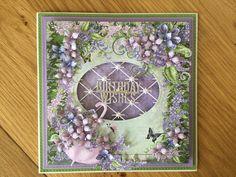 Heartfelt lush lilac birthday card