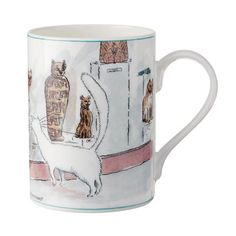 This range is inspired by Ottoline, a beautiful white cat, who lived next door to the British Museum. She used to visit the museum in search of other friendly cats but could only find ones in glass boxes! The design for this product range is taken from drawings featured in Ottoline at the British Museum, written by Sally Craddock and illustrated by Corinne Pearlman, as well as drawing inspiration from the collection of Mummified cats who Ottoline encounters. // I really want this…